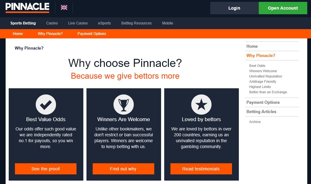 Защо да заложите на Pinnacle